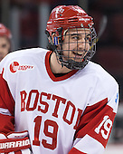 Matt Nieto (BU - 19) - The Boston University Terriers defeated the visiting Northeastern University Huskies 5-0 on senior night Saturday, March 9, 2013, at Agganis Arena in Boston, Massachusetts.