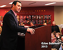 USC Trojans introduce New Head Football Coach Steve Sarkisian Tuesday, December 3, 2014 at the John McKay Center on campus in Los Angeles,California….Photo by © Jon SooHoo/2013