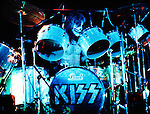 Kiss 1976 Peter Criss in London