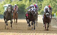 May 18, 2012 Alternation (center), Luis Quinonez up, wins the Pimlico Special at Pimlico Race Course in Baltimore, Maryland. photo by Joan Fairman Kanes
