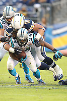 12/16/12 San Diego, CA: Carolina Panthers running back DeAngelo Williams #34 during an NFL game played between the Carolina Panthers and the San Diego Chargers held at Qualcomm Filed. The Panthers defeated the Chargers 31-7