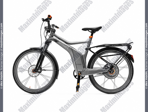 Electric bicycle, Smart ebike. Isolated on white background with clipping path.
