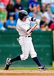 21 August 2010: Vermont Lake Monsters' infielder Blake Kelso in action against the Brooklyn Cyclones at Centennial Field in Burlington, Vermont. The Cyclones defeated the Lake Monsters 8-7 in a 12-inning game that had to be resumed in Brooklyn on August 31 due to late inning rain. Mandatory Credit: Ed Wolfstein Photo