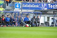 VOETBAL: HEERENVEEN: Abe Lenstra Stadion, SC Heerenveen - Vitesse, 21-01-2012, Eindstand 1-1, dug-out Vitesse, wisselspelers, begeleiding, assistent-trainer Stanley Menzo, hoofdtrainer John van den Brom, ©foto Martin de Jong