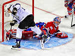 31 January 2009: Montreal Canadiens' goaltender Carey Price makes second period save against the Los Angeles Kings at the Bell Centre in Montreal, Quebec, Canada. The Canadiens defeated the Kings 4-3. ***** Editorial Sales Only ***** Mandatory Photo Credit: Ed Wolfstein Photo