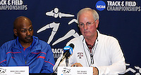 Coach Mike Holloway and Coach Pat Henry  at the 2011 NCAA Indoor Track & Field Championships Press Conference on Thursday, March 10, 2011. Photo by Errol Anderson.