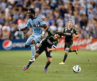 Kei Kamara, Mauro Rosales. Sporting Kansas City won the Lamar Hunt U.S. Open Cup on penalty kicks after tying the Seattle Sounders in overtime at Livestrong Sporting Park in Kansas City, Kansas.