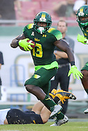 Tampa, FL - September 2, 2016: South Florida Bulls running back Darius Tice (13) in action during game between Towson and USF at the Raymond James Stadium in Tampa, FL. September 2, 2016.  (Photo by Elliott Brown/Media Images International)