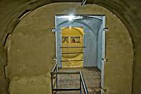 Roma 25 Ottobre 2014<br /> Aperti al pubblico i bunker segreti, costruiti tra il 1942 e il 1943,dove Benito  Mussolini e la sua famiglia cercava rifugio dai bombardamenti degli alleati nella residenza privata di Villa Torlonia. <br /> Nella foto:  Il bunker scavato ex novo ad una profondit&agrave; di 6 metri e mezzo, sotto  il piazzale antistante il Casino Nobile a forma di croce, protetto  da una copertura in cemento armato spessa  4 metri, la costruzione inizio  a fine 1942 ma rimase incompiuto poich&egrave; Mussolini fu arrestato il 25 Luglio 1943.<br /> Rome October 25, 2014 <br /> Open to the public the secret bunkers built between 1942 and 1943, where Benito Mussolini and his family sought refuge from Allied bombing in the private residence of Villa Torlonia. <br /> Pictured: The bunker dug anew to a depth of 6 feet below the square in front of the Casino Nobile in the shape of a cross, protected by a reinforced concrete roof 4 feet thick, construction beginning in late 1942 but remained unfinished because Mussolini was arrested July 25, 1943.