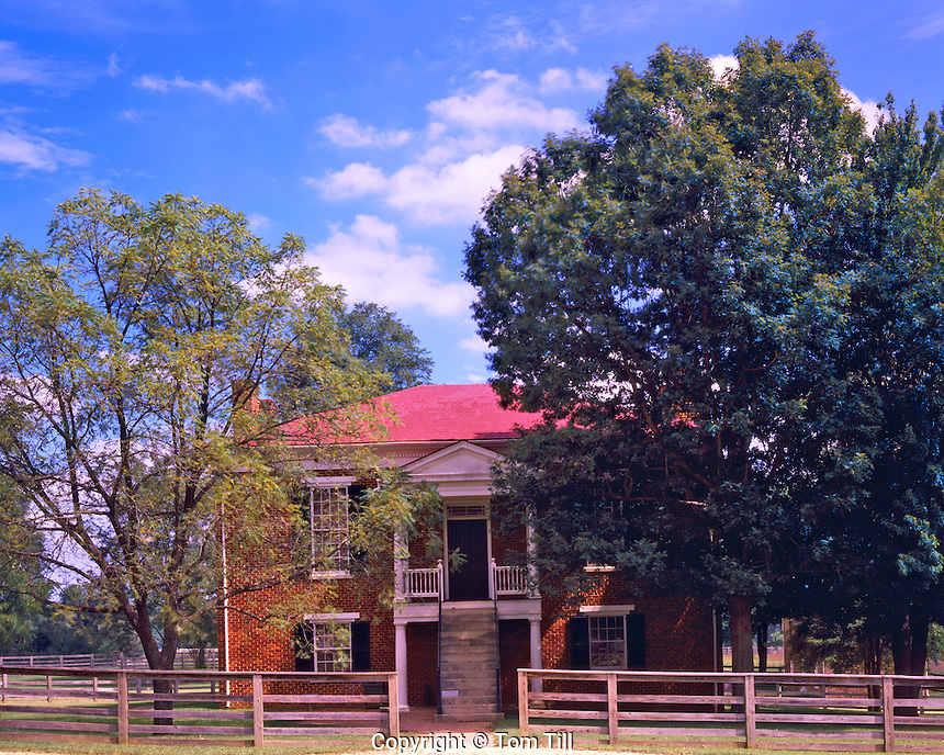 Appomattox Court House, Site of Confederate Surrender in Civil War April 9, 1865 (Townsite Buildings), Appomattox Court House National Historic Park, Virginia
