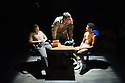 London, UK. 03.10.2014. Mountview Academy of Theatre Arts presents VERNON GOD LITTLE, at the Bridewell Theatre. Picture shows: Katie Dalzell, Louis Martin and Asan N'Jie. Photograph © Jane Hobson.