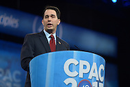March 14, 2013  (National Harbor, Maryland)  Wisconsin Governor Scott Walker addresses attendees of the 2013 Conservative Political Action Conference (CPAC) in National Harbor, MD.  (Photo by Don Baxter/Media Images International)