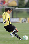 19 August 2009: Hope Solo (1) of Saint Louis Athletica.  Saint Louis Athletica was defeated by the visiting Sky Blue FC 0-1 in the post season Super Semifinal Women's Professional  Soccer game at Anheuser-Busch Soccer Park, in Fenton, MO.