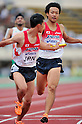 Yusuke Ishitsuka (JPN), JULY 10th, 2011 - Athletics : The 19th Asian Athletics Championships Hyogo/Kobe, Men's 4x400m Relay Final at Kobe Sports Park Stadium, Hyogo in Japan. (Photo by Jun Tsukida/AFLO SPORT) [0003].