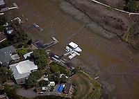 aerial photograph, low tide, Novato, Marin County, California