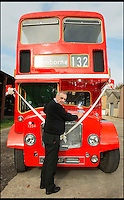 BNPS.co.uk (01202 558833)<br /> Pic: TomWren/BNPS<br /> <br /> Trevor Shore polishes his Bristol FLF Lodekka double-decker.<br /> <br /> A bus enthusiast who once ran into a burning building to rescue a double-decker has saved it again after buying it for a restoration project 40 years later.<br /> <br /> Trevor Shore was an 18-year-old conductor when he repeatedly dashed into a blazing bus station in 1976 to drive three of the vehicles to safety in the nick of time.<br /> <br /> Forty years on and Trevor, 58, from Poole, Dorset, has saved one of the three Bristol FLF Lodekka double-deckers from leaving the country after buying it for &pound;13,000.