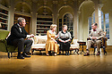 London, UK. 26.03.2014. Theatre Royal Bath Production's West End transfer of RELATIVE VALUES, by Noel Coward, opens at the Harold Pinter Theatre. Picture shows: Rory Bremner (Crestwell), Patricia Hodge (Felicity), Caroline Quentin (Moxie) and Steven Pacey (Peter). Photograph © Jane Hobson.