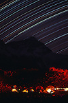 Startrails over Everest basecamp, Tibet, China