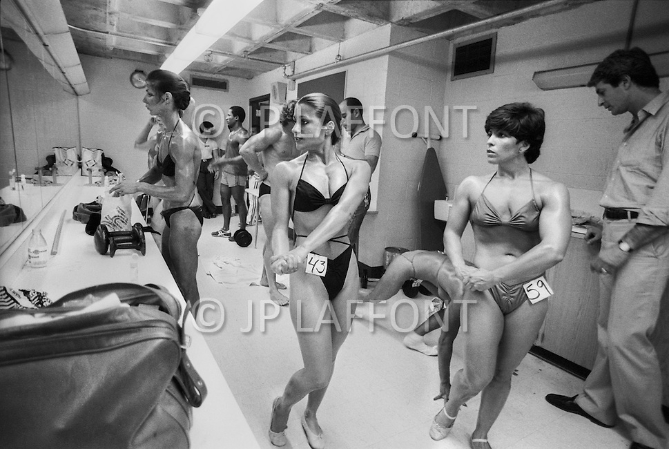 June 20th 1981, New York, USA. <br /> Valerie Mayers, Siella Keriotis and Theresa Long, Ms. Empire State competition.
