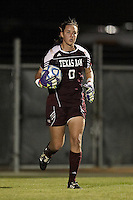 SAN ANTONIO, TX - NOVEMBER 2, 2011: Game 4 of the 2011 Big 12 Conference Women's Soccer Championship Quarterfinals featuring the Texas A&M University Aggies vs. the University of Kansas Jayhawks at the Blossom Soccer Stadium. (Photo by Jeff Huehn)