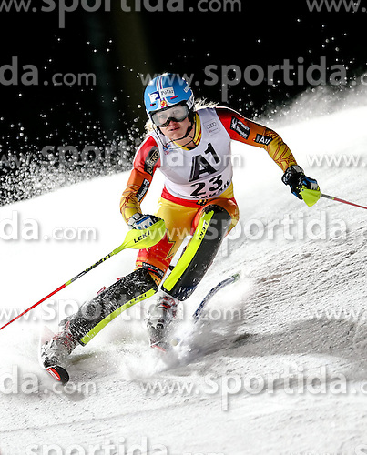 13.01.2015, Hermann Maier Weltcupstrecke, Flachau, AUT, FIS Weltcup Ski Alpin, Flachau, Slalom, Damen, 1. Lauf, im Bild Erin Mielzynski (CAN) // Erin Mielzynski of Canada in action during 1st run of the ladie's Slalom of the FIS Ski Alpine World Cup at the Hermann Maier Weltcupstrecke in Flachau, Austria on 2015/01/13. EXPA Pictures © 2015, PhotoCredit: EXPA/ Johann Groder