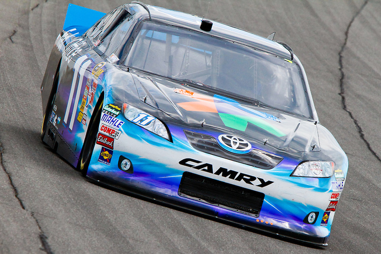 17 June, 2011: Denny Hamlin takes a practice run before the 43rd Annual Heluva Good! Sour Cream Dips 400 at Michigan International Speedway in Brooklyn, Michigan. (Photo by Jeff Speer :: SpeerPhoto.com)