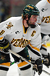 "19 January 2007: University of Vermont defenseman and co-captain Kenny Macaulay from Baddeck, NS, in action against Boston College at Gutterson Fieldhouse in Burlington, Vermont. The UVM Catamounts defeated the BC Eagles 3-2 before a record setting 50th consecutive sellout at ""the Gut""...Mandatory Photo Credit: Ed Wolfstein Photo."
