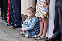 NEW YORK CITY, UNITED STATES SEPTEMBER 16, 2016: Peter Thomson's grand daughter during the Peace Bell Ceremony to commemorate the International Day of Peace September at the United Nations in New York. Photo by VIEWpress/Maite H. Mateo