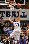 24 February 2012: Duke's Allison Vernerey (FRA). The Duke University Blue Devils defeated the University of Miami Hurricanes 74-64 at Cameron Indoor Stadium in Durham, North Carolina in an NCAA Division I Women's basketball game.