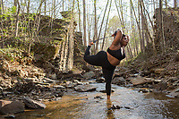 Portraits of Jessamyn Stanley at The Pump Station Trail at The Eno River in Durham, NC on Sunday, April 2, 2017. (Justin Cook)