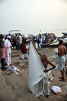 A busy ghat at Varanasi, Uttar Pradesh, India.