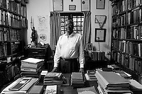 Desmond Fernando PC, in his study at 26 Charles Place, Colombo 3.