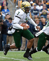 South Florida quarterback BJ Daniels. The Pittsburgh Panthers defeated the South Florida Bulls 41-14 at Heinz Field, Pittsburgh, PA on October 24, 2009.