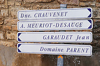 Domaine chauvenet, Meuriot Desauge, Garaudet jean, Parent. The village. Pommard, Cote de Beaune, d'Or, Burgundy, France