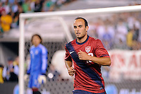 Landon Donovan (10) of the United States. The men's national teams of the United States (USA) and Mexico (MEX) played to a 1-1 tie during an international friendly at Lincoln Financial Field in Philadelphia, PA, on August 10, 2011.