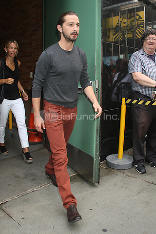 NEW YORK CITY, NY - AUGUST 1, 2012: Shia LaBeouf at ABC studios for an appearance on ABC's Good Moring America. © RW/MediaPunch Inc.