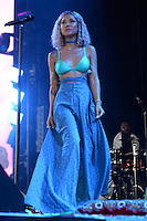 WEST PALM BEACH, FL - JULY 20: Jhene Aiko performs during opening night of the High Road Tour at The Perfect Vodka Amphitheater on July 20, 2016 in West Palm Beach Florida. Credit: mpi04/MediaPunch