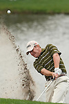 18 March 2010: Jeff Maggert, who finished the first round with a -4, digs out of the sand on the 18th hole at the Transitions Championship Tournament at Innisbrook Golf Resort in Palm Harbor, Florida.