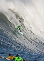 Grant Twiggy Baker. Mavericks Surf Contest in Half Moon Bay, California on February 13th, 2010.