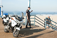 Santa Monica Police closed the pier due to the Tsunami  advisory on Friday, March11, 2011.