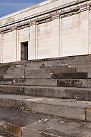 stone steps abd Zeppelinhaupttribuene at the old nazi party rally grounds, Nuernberg, Germany