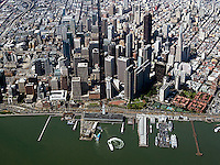 aerial photograph north waterfront financial district Market Street San Francisco, California