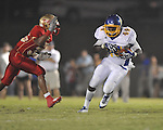 Oxford High's Xavier Pegues (44) catches a pass vs. Lafayette High at William L. Buford Stadium in Oxford, Miss. on Friday, September 2, 2011. Lafayette won 40-12