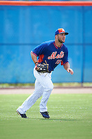 New York Mets outfielder Tim Tebow (15) in the field during an Instructional League game against the Miami Marlins on September 29, 2016 at Port St. Lucie Training Complex in Port St. Lucie, Florida.  (Mike Janes/Four Seam Images)