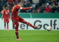 FUSSBALL  DFB POKAL       SAISON 2012/2013 FC Bayern Muenchen - 1 FC Kaiserslautern  31.10.2012 Tor zum 2:0 durch Arjen Robben (FC Bayern Muenchen)