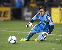 March 3rd, 2013: Nick Rimando dives to stop the ball during a game against San Jose Earthquakes at Buck Shaw Stadium, Santa Clara, Ca.  Salt Lake Real defeated San Jose Earthquakes