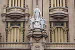 HAVANA, CUBA -- MARCH 24, 2015:   A detail of the Gran Teatro de La Habana in Havana, Cuba on March 24, 2015. Photograph by Michael Nagle