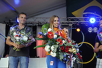 ZEILEN: WARTEN: 27-08-2016, Huldiging Marit Bouwmeester, Marit en coach Jaap Zielhuis, ©foto Martin de Jong