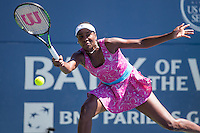 Bank of the West Classic, Palo Alto, California - July 24, 2016: British Johanna Konta defeated top-seeded Venus Williams 7-5, 5-7, 6-3 to win her first career WTA title at the Bank of the West Classic at Taube Family Tennis Stadium.