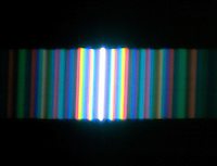 INTERFERENCE &amp; DIFFRACTION FRINGE PATTERNS<br /> Spectral Diffraction - White Light By Single Slit<br /> A single slit of white light passes through a diffraction grating to create a spectral Fraunhofer diffraction pattern.